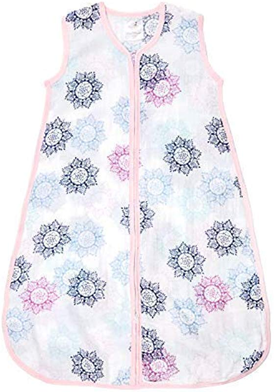 Aden By Aden Anais Classic Sleeping Bag 100 Cotton Muslin Wearable Baby Blanket Small 0 6 Months Pretty Pink