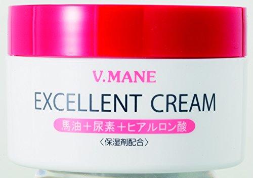 ベ・マンエクセレントクリーム 馬油 ヒアルロン酸 尿素 保湿 顔 全身 (リバテープ製薬 公式)