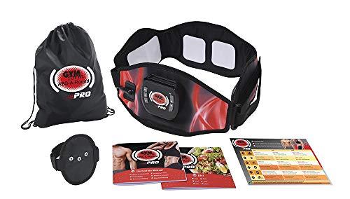 Gymform ABS-a-Round PRO Platinum - Cintura per Addominali, Unisex, 99 530, Nero, L XL