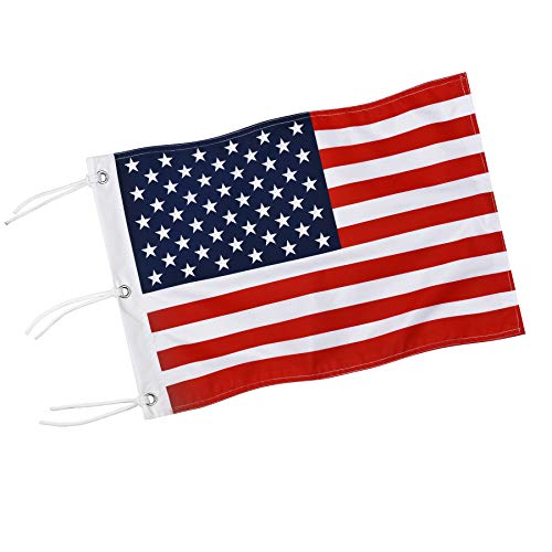 KINGTOP Double-Sewn US Golf Flag, Brass Grommets Golf Flag with Securing Strings, 20