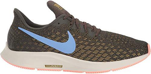 Nike Damen WMNS Air Zoom Pegasus 35 Laufschuhe, Mehrfarbig (Sequoia/Royal Pulse/Olive Flak 302), 43 EU