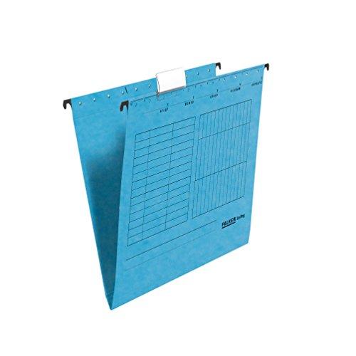 Original Falken 25er Pack Hängemappe UniReg. Made in Germany. Aus Recycling-Karton für DIN A4 seitlich offen blau Blauer Engel ideal für die lose Blatt-Ablage im Büro und der Behörde