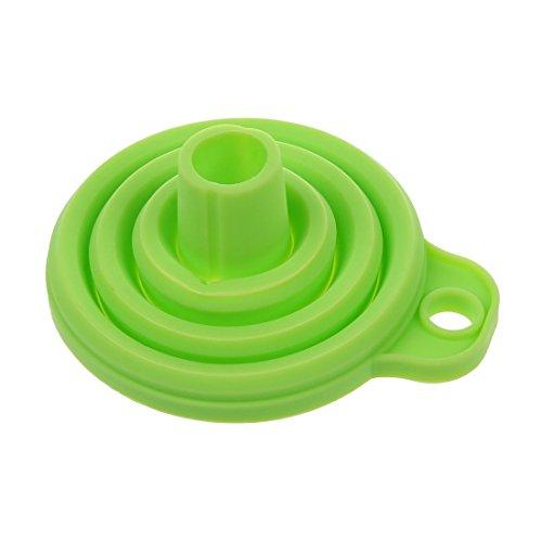 TOOGOO(R) Embudos retractiles portatiles Embudo de cocina de casa Almacenamiento conveniente Verde