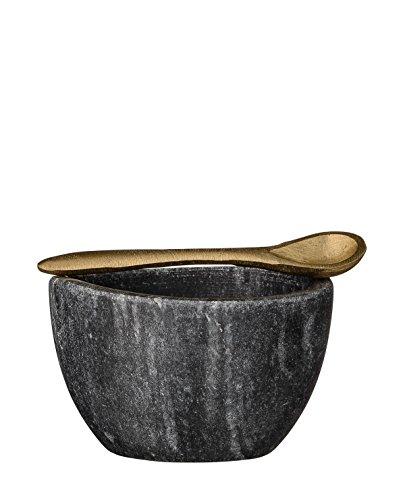 Bloomingville - Schale, Schälchen - Marmor - schwarz - D 8cm - Höhe 5cm