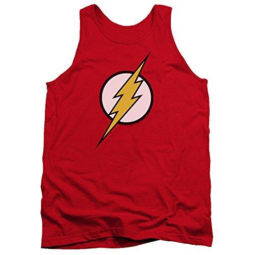 Justice League DC Comics Flash Logo Adult Tank Top Shirt