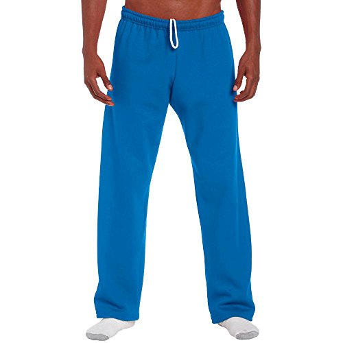 Gildan Men's Heavy Blend Open-Bottom Sweatpants, Medium, Royal