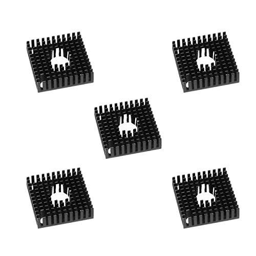 ICQUANZX 5 STÜCKE 3D-Druckerzubehör Kühlkörper, MK7 / MK8 40 x 40 x 11 mm Kühlkörper Kühlrippe für Anet 3D-Drucker-Extruderlüfter