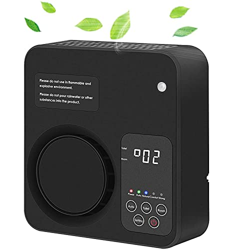 ZoeTec Purificador de aire de diseño actualizado para el hogar con filtros, desodorización, olores, humo, polvo, generadores de ozono, color negro