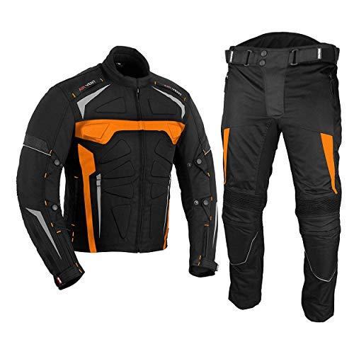 Motorfiets Waterdichte Motorfiets Armor Racing Bike Rider Alle Weer Het dragen van 2 Stuk Pak voor Heren Jongens Oranje 50 Jacket /44 Wasit - 32 Leg ORANJE