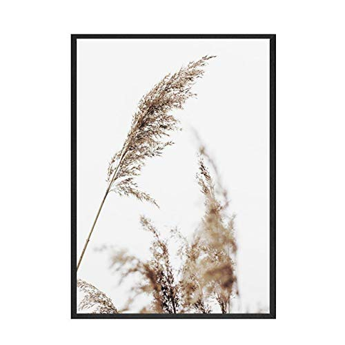 LiMengQi2 Grassland Animal Lion Wall Art Canvas Poster Yellow Wheat Print Painting Nordic Quote Picture on The Wall Landscape Decoración para el hogar (sin Marco)