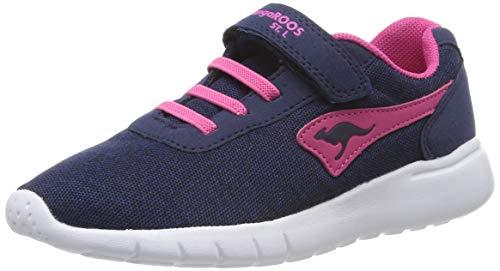 KangaROOS K-Gard EV Unisex-Kinder Sneaker, Blau (Dark Navy/Daisy Pink 4204), 34 EU