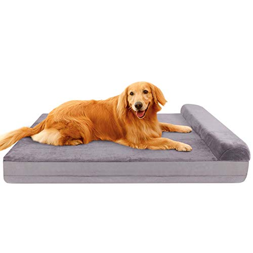 JoicyCo Dog Bed with Headrest