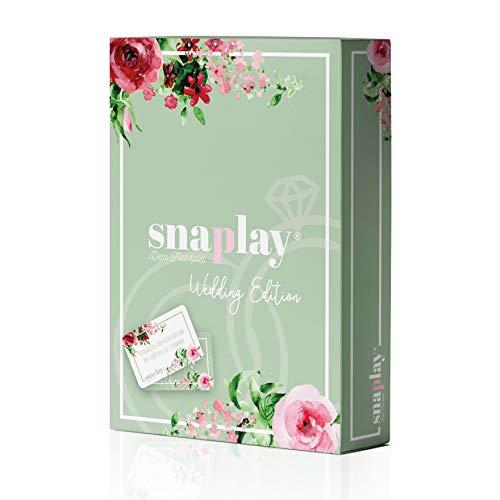 Snaplay I 65 Fotoaufgaben für die Hochzeit I Hochzeits-Spiel für Gäste I Hochzeitsgeschenke für Brautpaar I Kombinierbar mit Fotobox, Photo-Booth