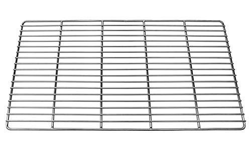 Grillmaster Edelstahl Grillrost Rost Rund Rechteckig Grill Grössenauswahl Griff, Größe:60 x 40 cm