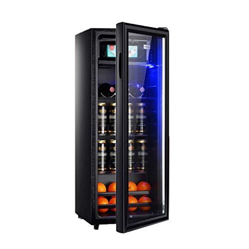 Boissons Cooler et réfrigérateur, mini-réfrigérateur avec porte en verre for Soda bière ou de vin petit verre Cooler - double couche en verre trempé Porte (Taille: pouces Big H40.6) 8bayfa