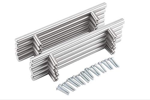 Schrankgriffe edelstahl,Möbel/Schränke/Schubladengriffe Edelstahl Möbelgriffe Griff für verschiedene Home Offices Modernes Design 200mm (20 Stück)