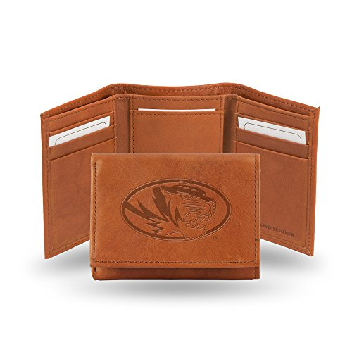Black Rico Industries NBA Laser Engraved Tri-Fold Wallet