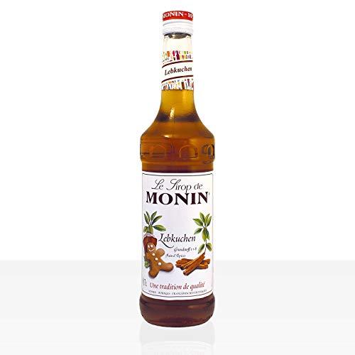 Monin Sirup Lebkuchen I Mit Ingwer und Zimt Aroma I Perfekt im Winter und zu Weihnachten für alle Heißgetränke I 0,7l Glasflasche
