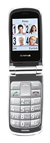OLYMPIA 2166 Komfort-Mobiltelefon mit Großtasten/großem Farb-LC-Display Modell Style silber