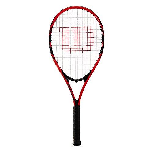 Wilson Federer, WRT30480U2 Racchetta da Tennis per Giocatori Principianti e Amatoriali Unisex Adulto, Rosso/Nero, L2