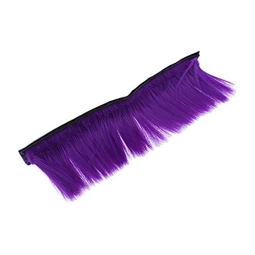 B Blesiya Perruque Mohawk de Casque de Moto Skinhead Crête Wig Accessoire Voyant de Casque - Violet, 300 mm