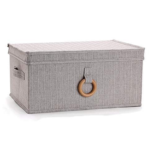 Kcakek Grote Storage Box Opvouwbaar Stof Organizer met deksel lade Ondergoed Storage Box Desktop Storage Box Wardrobe Storage Rack Huishoudelijke opbergdoos met handvat (Size : Extra large)
