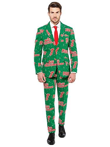 OppoSuits Trajes de Navidad Divertidos – Happy Hollidude – Traje Completo: Chaqueta, Pantalones y Corbata –...