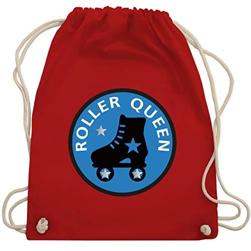 Shirtracer Vintage - Roller Queen Rollschuh - Unisize - Rot - rollschuhe rucksack - WM110 - Turnbeutel und Stoffbeutel aus Baumwolle