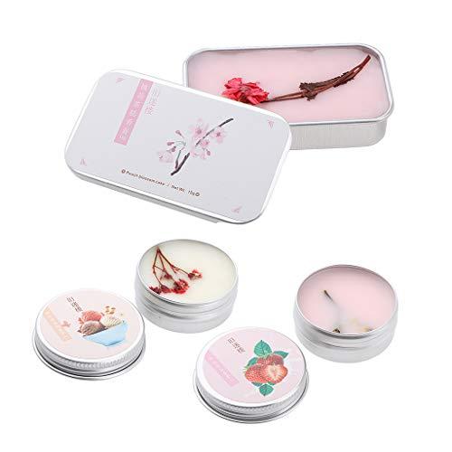 B Blesiya 3 Unids Peach Blossom Té Blanco/Leche Fresa/Helado Bálsamo De Perfume Sólido Para Mujeres, Fragancia De Fruta Floral Natural, Larga Duración, 15g