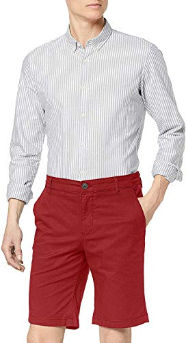 SELECTED HOMME Male Shorts SLHPARIS Regular FIT - SBrick Red