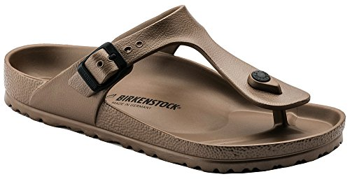 Birkenstock Unisex Gizeh Essentials EVA Sandals, Metallic Copper, 38 R EU, 7-7.5 Women/5-5.5 Men M US