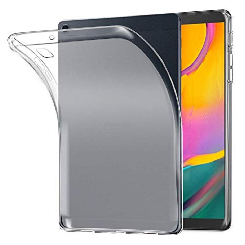 """custodie tablet 8 pollici REY Cover in Gel TPU Trasparente per Samsung Galaxy Tab A 8"""" 2019 T295"""