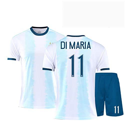 Mens Football Jersey Argentinien 2019/20 National Football Team Home Anzüge, Otamendi 10# 11# Di María Training Jersey Für Erwachsene & Kinder, Geschenk Für Tägliche BackN11-26