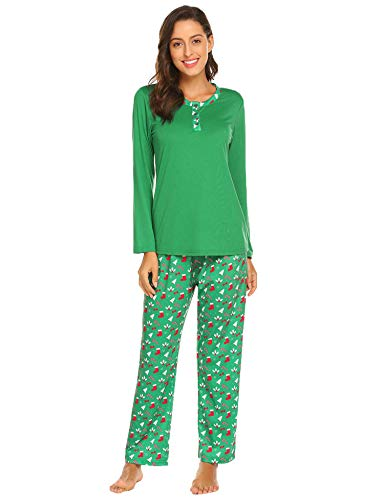 Image of Classic Christmas Print Pajamas for Women - See More