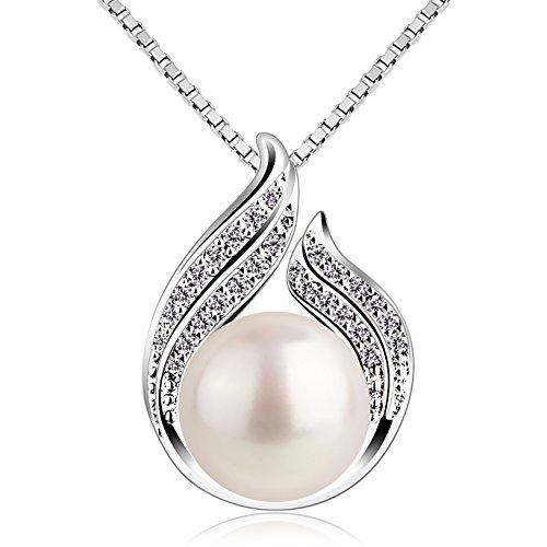 """B.Catcher collana e ciondolo abbraccio con perla argento s925""""Hug with Pearl""""ciondolo e collana per signora 18"""""""