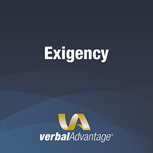 Word of the Day: Exigency audiobook cover art