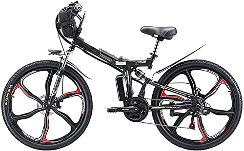 Bicicleta electrica 26 '' Bicicleta eléctrica plegable de montaña, bicicleta eléctrica de...