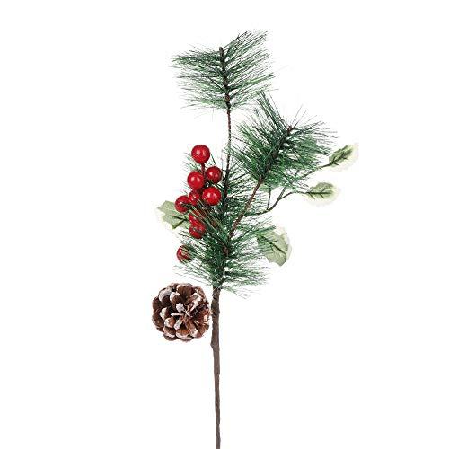 Citroen-Land Party benodigdheden Bruiloft Ornament Faux Plant Bloemenarrangement Kerst Stekken Simulatie Rode Bessen Dennenappel Kunstmatige Boomtakken