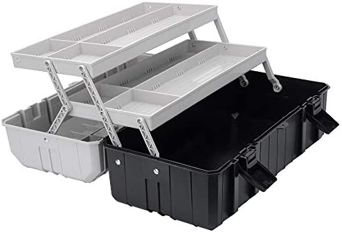 17 Inch Plastic Toolbox for Tools GANCHUN 3 Layer Tool Box Hobby or Craft Storage Toolbox Multiplication product image