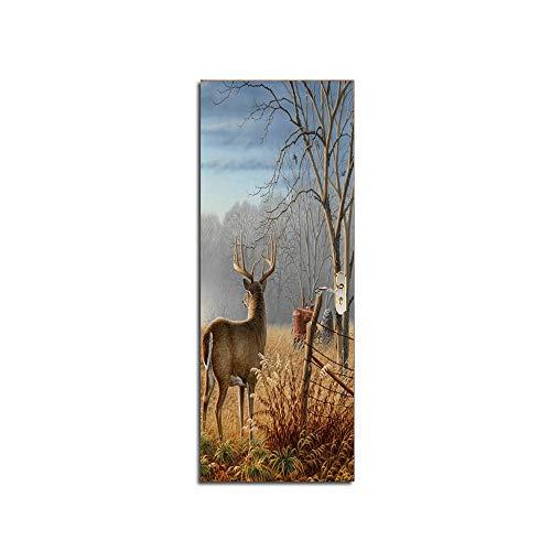 77 X 200 Painting Valley Deer Gate Mural Wall Painting
