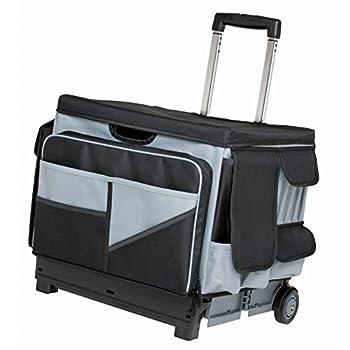 ECR4Kids - ELR-0549B MemoryStor Universal Rolling Cart and Organizer Bag Set Black/Gray Black/gray 17.50  x 15.75  x 16.50   763960528426