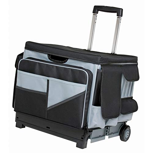 "ECR4Kids MemoryStor Universal Rolling Cart and Organizer Bag Set, Black/Gray, Black/gray, 17.50"" x 15.75"" x 16.50"" (763960528426)"