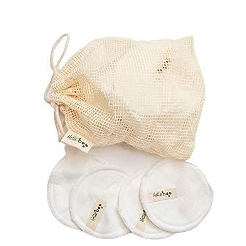 Coton démaquillant réutilisable en bambou | Paquet de 20 disques avec un sac de lavage en coton | Doux, écologique et réutilisable | Pour tous les types de peau et lavable en machine