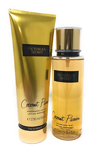 Set Victoria'S Secret Coconut Passion Body Mist 250 ML + Crema 236 ML
