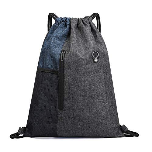 Ruberg - Bolsa de deporte resistente al agua para hombre y mujer, con cremallera, bolsillo interior, bolsillo exterior, bolsa de gimnasio, mochila hipster,color azul