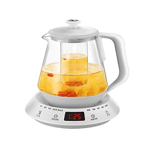 Z-Color Electric Kettle 1.5L Glass Tea Kettle with Variable Presets, One Touch Tea Maker, Stainless Steel Inner Lid,Auto Shut Off Boil Dry Protection, BPA Free