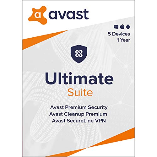 Avast Ultimate 2021 | Antivirus+Cleaner+VPN | 5 Devices, 1 Year [PC/Mac/Mobile Download]