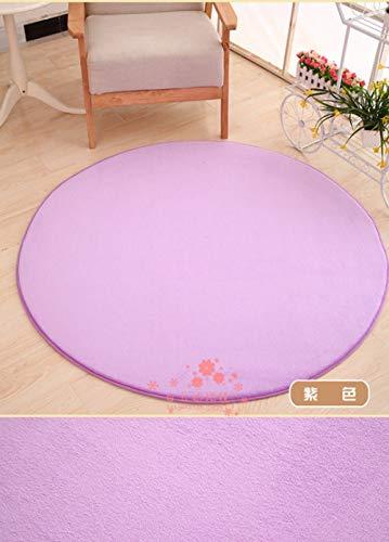 YOUZHA effen tapijt, Japanse moderne stijl, dik behang, zachte vacht grote ronde vloer, carpet, woonkamer, badkamer, cirkel yogamatten