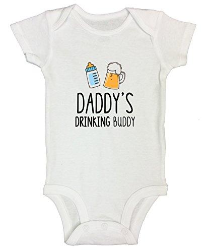 "Funny Threadz Kids Funny Boys Girls Onesie ""Daddy Drinking Buddy"" Party..."