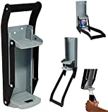 16 oz metal lata la trituradora, el abridor de la botella de la trituradora para reciclar la cerveza montada en la pared puede abrirse y aplastar la botella Dos características en uno puede presionar